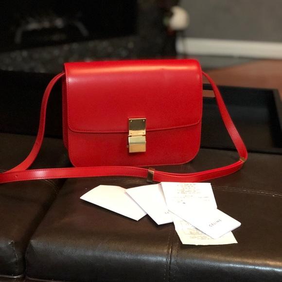 00148ab0b091 Celine Handbags - Celine medium classic bag in box calfskin